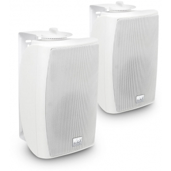 "LD Systems Contractor CWMS 42 W - 4"" 2-way wall mount speaker white (pair)"