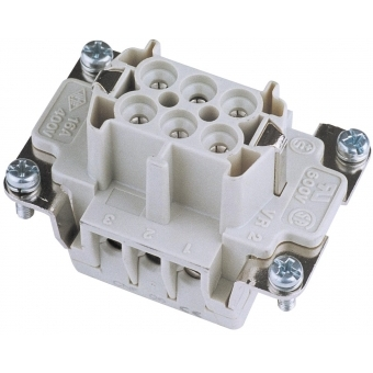 ILME Socket Insert 6-pin 16A, Screw Terminal