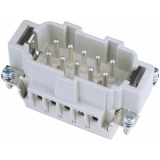 ILME Plug Insert 10-pin 16A, screw terminal