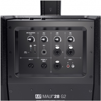 LD Systems MAUI 28 G2 - Compact column PA system active with built-in mixer and Bluetooth black #9