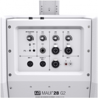 LD Systems MAUI 28 G2 W - Compact Column PA System with Mixer and Bluetooth white #9