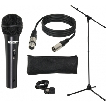 LD Systems MIC SET 1 - Microphone Set with Microphone, Stand, Cable and Clamp #2
