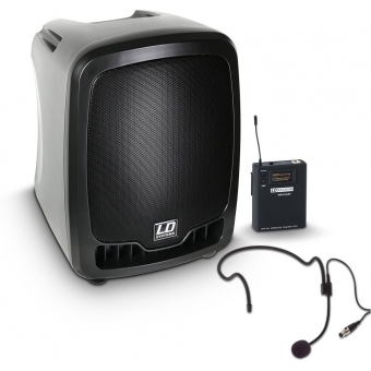 LD Systems Roadboy 65 HS B6 - Portable PA Speaker with Headset