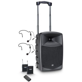 LD Systems ROADBUDDY 10 BPH 2 B5 - Battery-Powered Bluetooth Speaker with Mixer, 2 Bodypack and 2 Headsets
