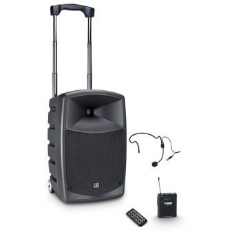 LD Systems ROADBUDDY 10 HS - Battery Powered Bluetooth Speaker with Mixer, Bodypack and Headset