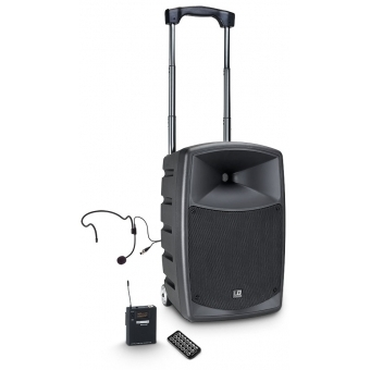 LD Systems ROADBUDDY 10 HS B5 - Battery Powered Bluetooth Speaker with Mixer, Bodypack and Headset