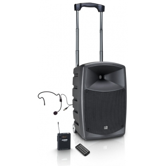 LD Systems ROADBUDDY 10 HS B6 - Battery Powered Bluetooth Speaker with Mixer, Bodypack and Headset