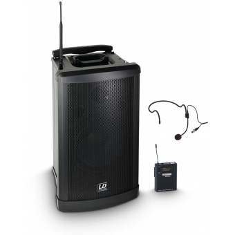 LD Systems Roadman 102 HS B6 - Portable PA Speaker with Headset