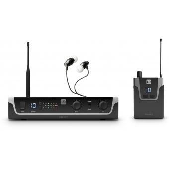 LD Systems U305 IEM HP - In-Ear Monitoring System with Earphones - 584 - 608 MHz