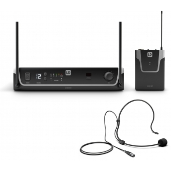 LD Systems U308 BPH - Wireless Microphone System with Bodypack and Headset - 863 - 865 MHz + 823 - 832 MHz