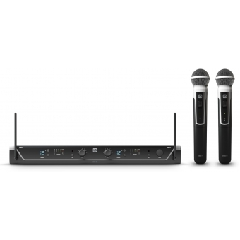 LD Systems U308 HHD 2 - Dual - Wireless Microphone System with 2 x Dynamic Handheld Microphone- 863 - 865 MHz+ 823 - 832 MHz