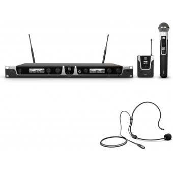 LD Systems U505 HBH 2 - Wireless Microphone System with Bodypack, Headset and Dynamic Handheld Microphone