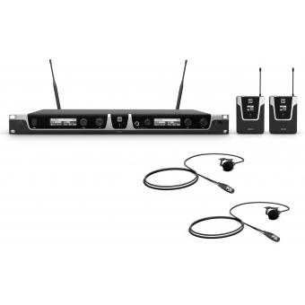 LD Systems U506 BPL 2 - Wireless Microphone System with 2 x Bodypack and 2 x Lavalier Microphone