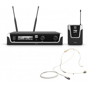 LD Systems U506 UK BPHH - Wireless Microphone System with Bodypack and Headset skin-coloured