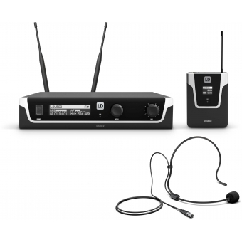 LD Systems U508 BPH - Wireless Microphone System with Bodypack and Headset - 823 – 832 MHz + 863 – 865 MHz.