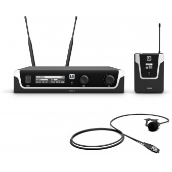 LD Systems U508 BPL - Wireless Microphone System with Bodypack and Lavalier Microphone - 823 – 832 MHz + 863 – 865 MHz.