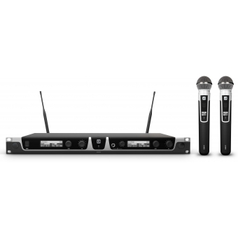 LD Systems U508 HHD 2 - Dual - Wireless Microphone System with 2 x Dynamic Handheld Microphone