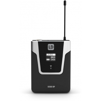 LD Systems U518 HBH 2 - Wireless Microphone System with Bodypack, Headset and Dynamic Handheld Microphone #8