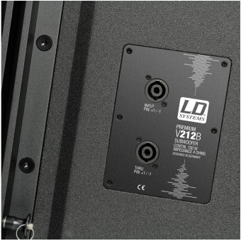 """LD Systems V 212 SUB - Flyable 2 x 12"""" band-pass subwoofer 700W passive #5"""