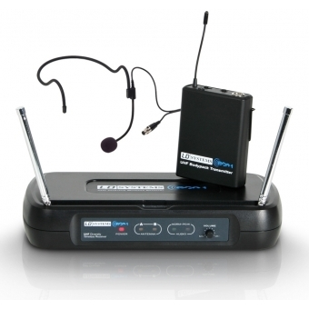 LD Systems ECO 2 BPH 2 - Dual - Wireless Microphone System with Belt Pack and Headset