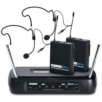 LD Systems ECO 2X2 BPH 1 - Wireless Microphone System with 2 x Belt Pack and 2 x Headset