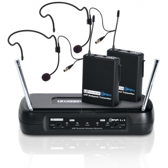 LD Systems ECO 2X2 BPH 2 - Dual - Wireless Microphone System with 2 x Belt Pack and 2 x Headset
