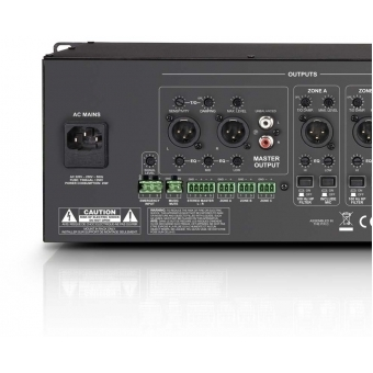 "LD Systems ZONE 624 - 19"" 4-Zone Mixer 3U #8"
