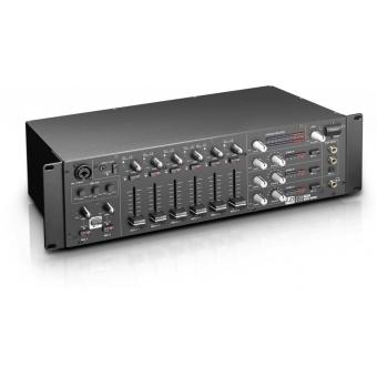"LD Systems ZONE 624 - 19"" 4-Zone Mixer 3U"