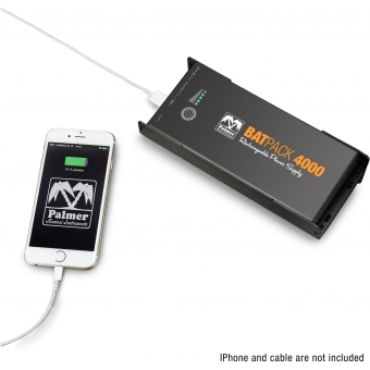 Palmer BATPACK 4000 - Rechargeable Pedalboard Power Supply, 400 0mAh #8