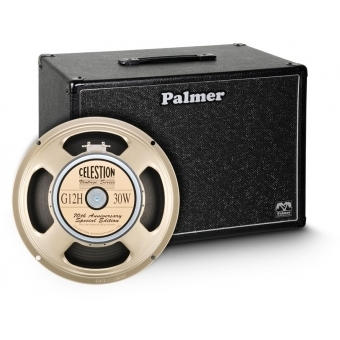 """Palmer CAB 112 G12A B - Guitar Cabinet 1 x 12"""" with Celestion G12H Anniversary Model 16 Ohm"""
