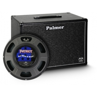 "Palmer CAB 112 RWB - Guitar Cabinet 1 x 12"" with Eminence Red White and Blues 8 Ohms"