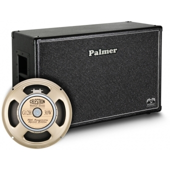 "Palmer CAB 212 G12A OB - Guitar Cabinet 2 x 12"" with Celestion G12H Anniversary Model 8/16 Ohm Open Back"