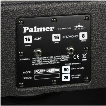 "Palmer CAB 212 GBK OB - Guitar Cabinet 2 x 12"" with Celestion G 12 M Greenback 8/16 Ohm Open Back #4"