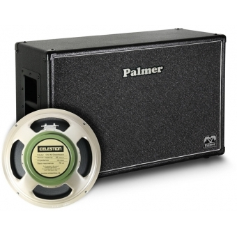 "Palmer CAB 212 GBK OB - Guitar Cabinet 2 x 12"" with Celestion G 12 M Greenback 8/16 Ohm Open Back #1"
