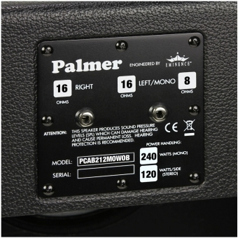 "Palmer CAB 212 MOW OB - Guitar Cabinet 2 x 12"" with Eminence Man-O-War 8/16 Ohm Open Back #4"
