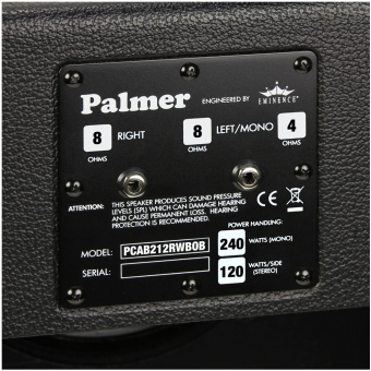 "Palmer CAB 212 RWB OB - Guitar Cabinet 2 x 12"" with Eminence Red White and Blues 4/8 Ohm Open Back #4"