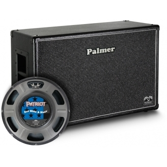 "Palmer CAB 212 RWB OB - Guitar Cabinet 2 x 12"" with Eminence Red White and Blues 4/8 Ohm Open Back"