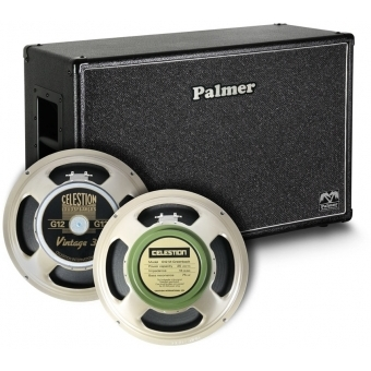 "Palmer CAB 212 V30 GBK OB - Guitar Cabinet 2 x 12"" with Celestion Vintage 30 und Greenback 8/16 Ohm Open Back"