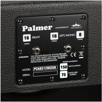 """Palmer CAB 212 WIZ OB - Guitar Cabinet 2 x 12"""" with Eminence Wizard 8/16 Ohm Open Back #4"""