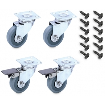 Palmer CAB CASTORS - Castor Set with 4 Castors incl. Screws for Bass or Guitar Cabinets