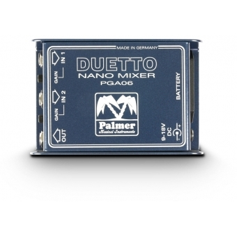 Palmer DUETTO - Nano Mixer for Guitars and Line Signals