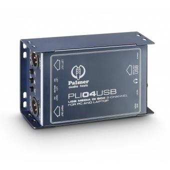 Palmer LI 04 USB - 2-Channel USB DI Box and Line Isolator
