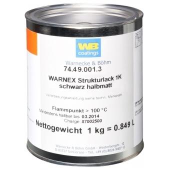 Warnex 0131 - Texture Paint black 1 kg Warnex