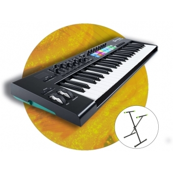 Set MIDI Controller Novation Launchkey 49 MK2 si stativ KSX1