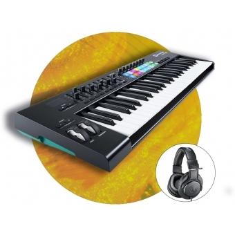Set MIDI Controller LaunchKey 49 MK2 si casti ATH-M20X