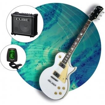 Set DIMAVERY LP-700 E-Guitar, Acordor Aroma si Amplificator Roland