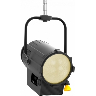 Prolights ECLFR2KPTW FRESNEL projector PO BK, 500W full colour and TW LED, 17-52°, barndoors incl.