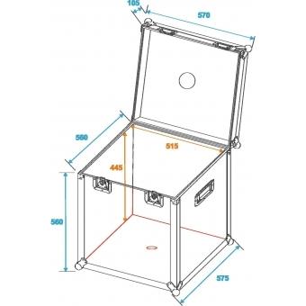 ROADINGER Flightcase Mirror Ball 50cm #2