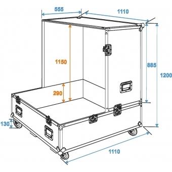 ROADINGER Flightcase Mirror Ball 100cm #5