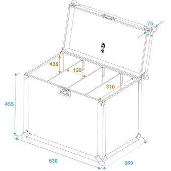 ROADINGER Flightcase 4x SLS Size L #5